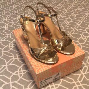 Gianni Bini En-dorsed heeled sandals, worn once